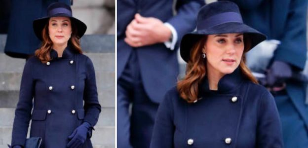 Kate Middleton w płaszczu Carolina Herrera