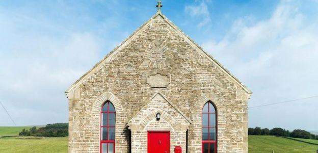 Kościół, który został przerobiony na dom