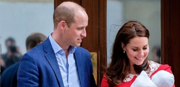 Kate Middleton i książę William z synem Ludwikiem