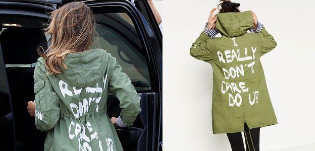 """Melania Trump: kurtka z napisem """"Mnie to nie obchodzi"""""""