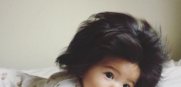 Baby Chanco - noworodek z czupryną na głowie