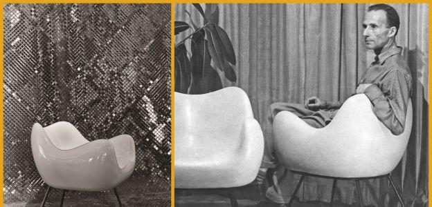 RM 58. Roman Modzelewski siedzący w fotelu RM58
