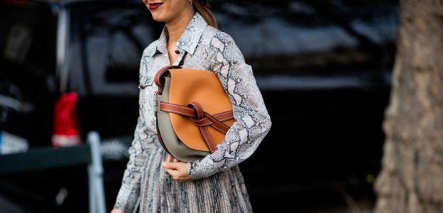 Wzór wężowej skóry hitem trendy moda wiosna 2019