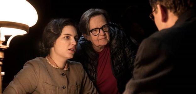 """Agnieszka Holland na planie filmu """"Obywatel Jones"""""""