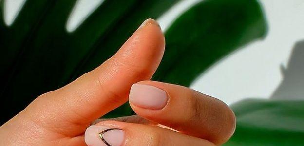 krótkie paznokcie hybrydowe