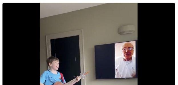 Wzruszające nagranie dziadka i wnuczka