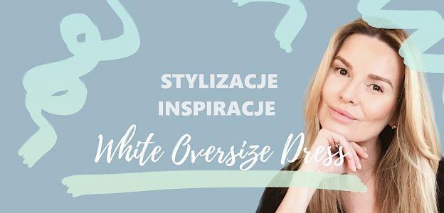 Hanna Lis w białej sukience oversize - trendy na lato 2020