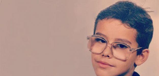 Damian Maliszewski w wieku 8 lat