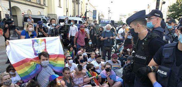 Protest aktywistów LGBT