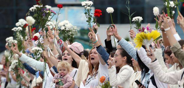 Kobiecy protest na Białorusi