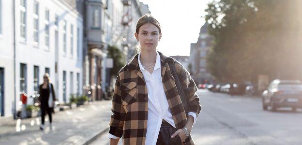 Trendy na jesień 2020: Koszulowa kurtka - koszula oversize w kratę