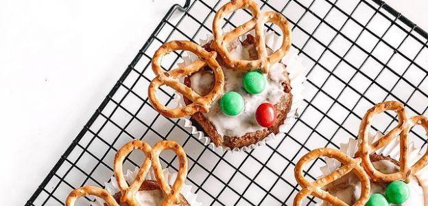 Świąteczne muffinki - reniferki