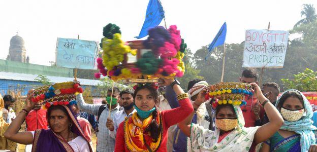 Kobiety na czele strajku rolników w Indiach