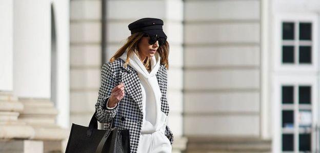 Płaszcz w pepitkę w stylu Anny Lewandowskiej