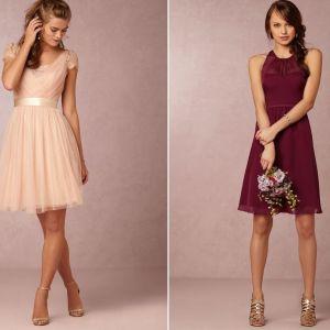 Krótkie sukienki na wesele dla druhny