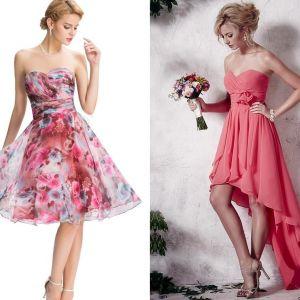 Gorsetowe sukienki na wesele dla druhny
