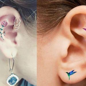 Tatuaże na uchu