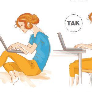 4. Praca z laptopem na kanapie