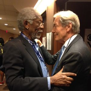 Charlie Rose i Morgan Freeman