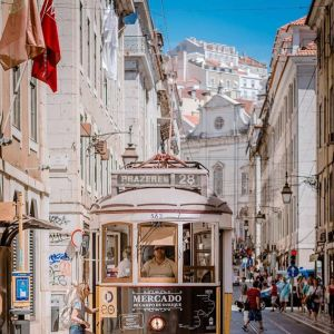 Lizbona i jej klasyczny tramwaj