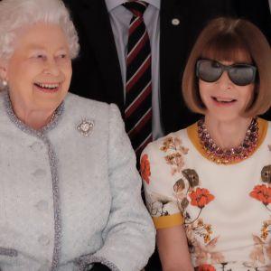 Królowa Elżbieta II i Anna Wintour na London Fashion Week