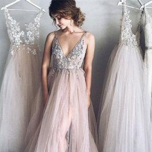 Sukienki na wesele - koraliki