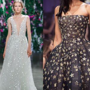 Sukienki na wesele - motyw gwiazd