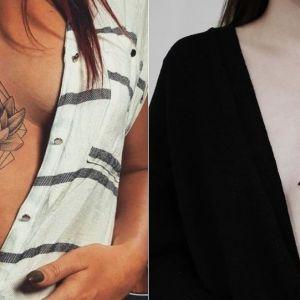 Tatuaże między piersiami