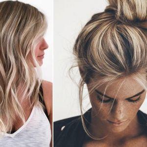 Pasemka blond to fryzura z lat 90-tych