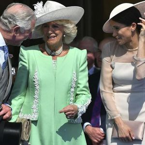 Księżna Meghan Markle i książę Karol z żoną