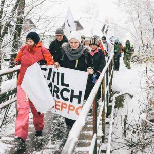 Civil March For Aleppo w Austrii