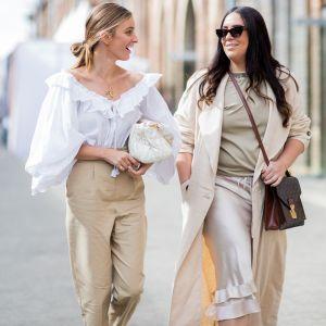 Łączenie kolorów ubrań - beż i brąz