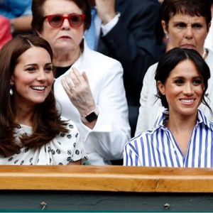 Meghan Markle i księżna Kate na Wimbledonie