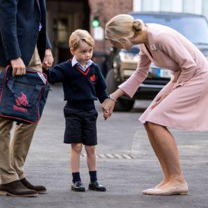 Książę George w pierwszym dniu szkoły