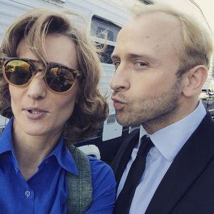 Magdalena Popławska i Borys Szyc