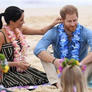 Księżna Meghan Markle w ciąży i książę Harry podczas wizyty w Australii