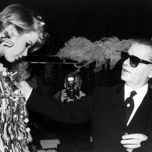 Karl Lagerfeld i Claudia Schiffer