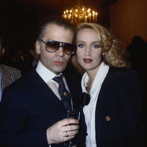 Karl Lagerfeld i Jerry Hall