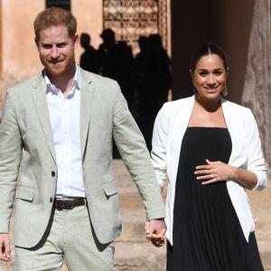 Meghan Markle i książę Harry podczas wizyty w Maroku