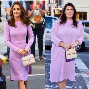 Blogerka Katie Sturino w stylizacji księżnej Kate
