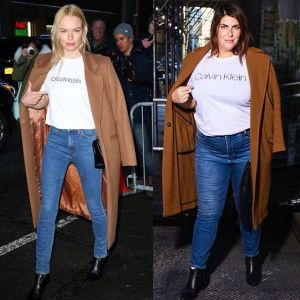Blogerka Katie Sturino w stylizacji Kate Bosworth