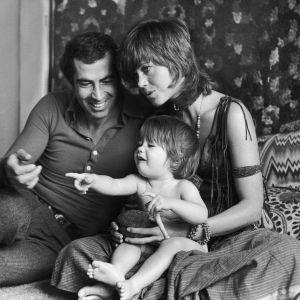 Jane Fonda z mężem Rogerem Vadimem i córką Vanessą