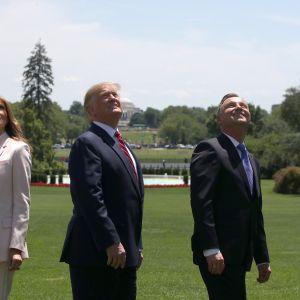 Agata Duda Melania Trump sukienka jak wyglądała żona prezydenta