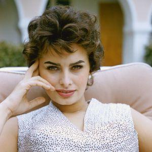 Sophia Loren na planie filmowym