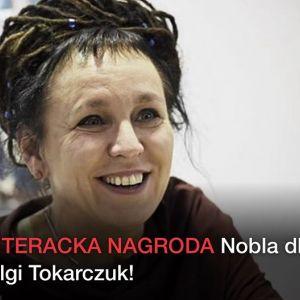 Borys Szyc gratuluje Oldze Tokarczuk Nobla