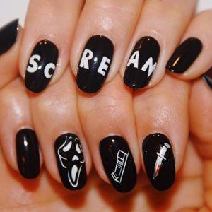 Modne paznokcie jesień 2019: manicure na Halloween