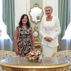 Agata Duda i Karen Pence