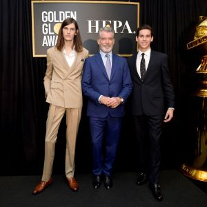 Pierce Brosnan z synami: Dylan Brosnan i Paris Brosnan