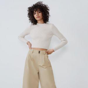 Spodnie beżowe typu kuloty