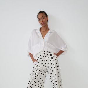 Spodnie w grochy Zara TRF